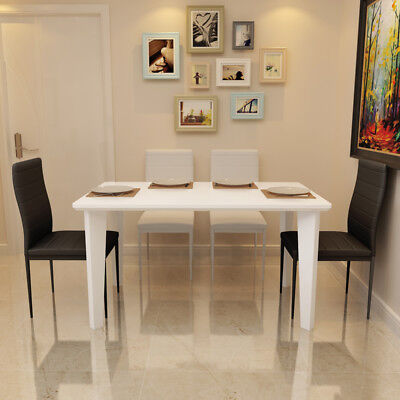 Modern White High Gloss Dining Table Dining Room Kitchen Furniture 4/6 Seater
