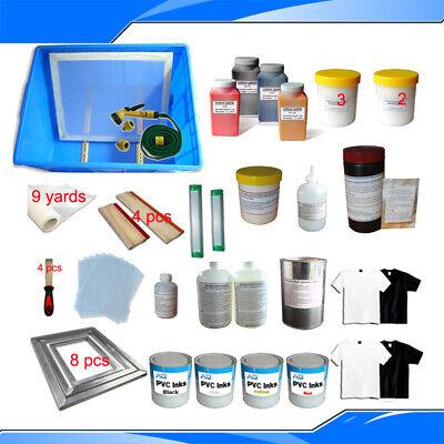 New 4 Colors Screen Printing Materials Kit Silk Screen Printing Accessories
