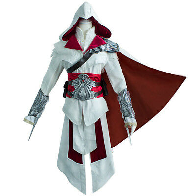 Assassins Creed II Ezio Auditore Da Firenze Cosplay Outfits Costume Full Suit