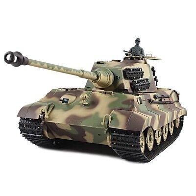 2.4Ghz 1/16 German King Tiger Henschel Turret RC Battle Tank w/Smoke & Sound RTR