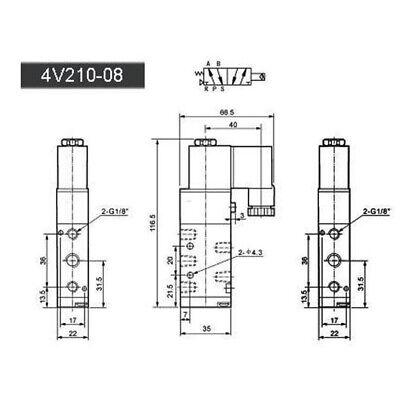 5-Way 2Position Neumático Eléctrico Solenoide Aire Válvula Latón Dc 12V 1/8 (