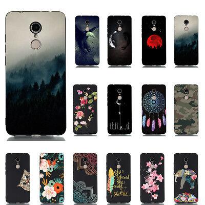 For Xiaomi Redmi Note 8 7 6 Pro 4X Pattern Slim Soft Rubber TPU Phone Case Cover