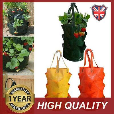 3 Gallon Strawberry Planter Bag Yard Outdoor  Hanging Compost Strong Grow pot UK