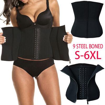 Fat Burner Sauna Suit Waist Trimmer Corset Long Torso Waist Trainer CIncher Plus (Fat Suit)