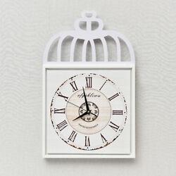 D292 Modern Style White Mute Wood Originality Decoration Wall Clock 14 Inch A