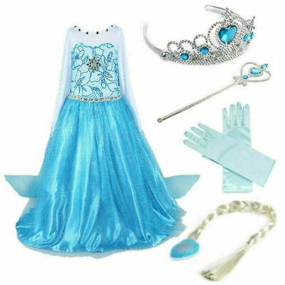 Mädchen Kinder Prinzessin Kostüm Kleid Cosplay Partykleid Festkleid Kleider Blau