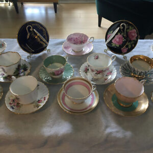 Beautiful vintage Fine Bone China teacups (from $10 per cup)