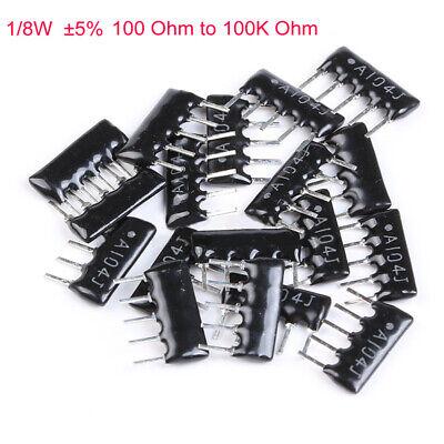 10pcs 18w Dip Network Array Resistor 5 Range 100 Ohm To 100k Ohm 5679 Pin