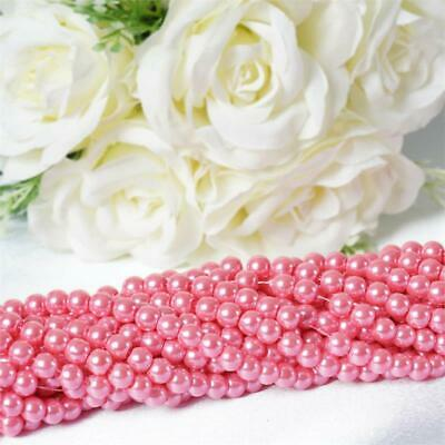 8 mm Pink FAUX PEARL BEADS Wedding Party Crafts Centerpieces Decorations SALE
