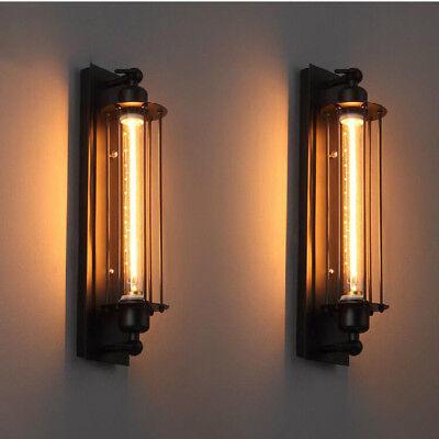 Black Wall Lamp - Vintage Industrial Black Metal Wall Lamp Sconce Light Fixture Edison Flute Wall