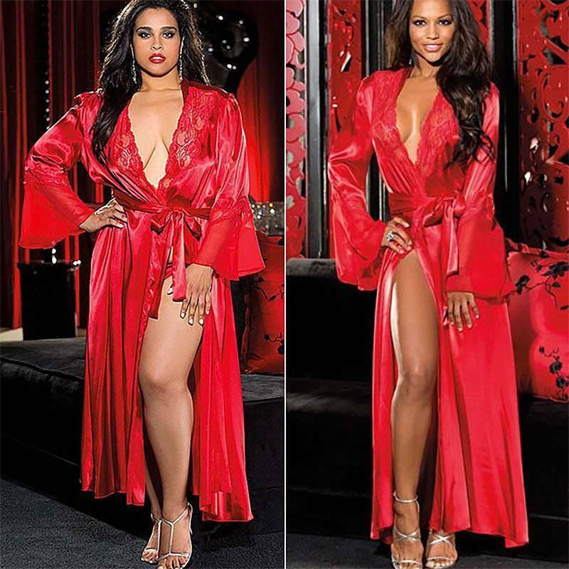 Women Sexy Lace Lingerie G-String Dress Stocking Fishnet Sleepwear Set Underwear Clothing, Shoes & Accessories