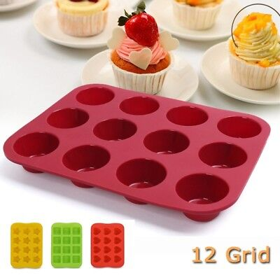 Silicone Baking Molds Cupcake Chocolate Cake Mold Pan Non-Stick Kitchen Tools