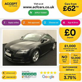 Black AUDI TT COUPE 1.8 2.0 TFSI Petrol S LINE FROM £62 PER WEEK!
