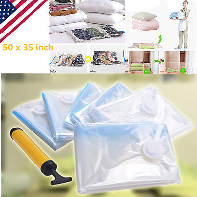 6 X-Large  PACK JUMBO Space Saver Bags Storage Bag Vacuum Seal Organizer Hot