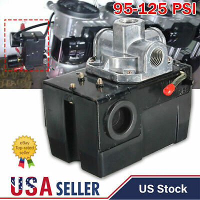 Pressure Switch For Air Compressor 95-125 Psi Single Port Heavy Duty 26a