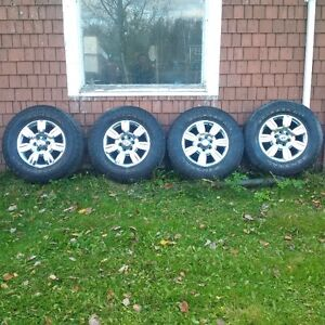 """Set of four tires and rims Ford F150 18 """""""