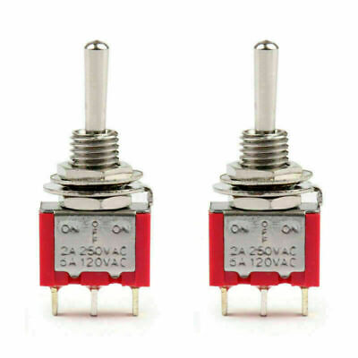 2pc Mts-103 Toggle Switch 3 Pin 3 Position On-off-on 5a125vac 2a250vac Us