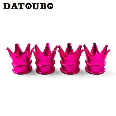 8 pcs Pink Crown Novelty Car Wheel/Tire Valve Caps Motorcycle Bike Air Dust Cap - Novelty Crown