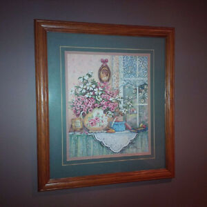 Limited Edition Framed Floral Print signed by the artist