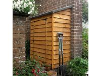 log store and garden wall shed