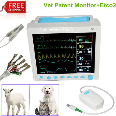 Capnograph Etco2 12.1veterinary Patient Monitor Vital Signs Icu Monitor Cms8000