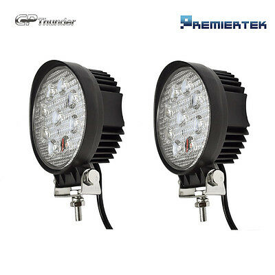 2 x 27W Spot Work LED Light Bar Round Lamp Driving Offroad SUV Car Boat Truck