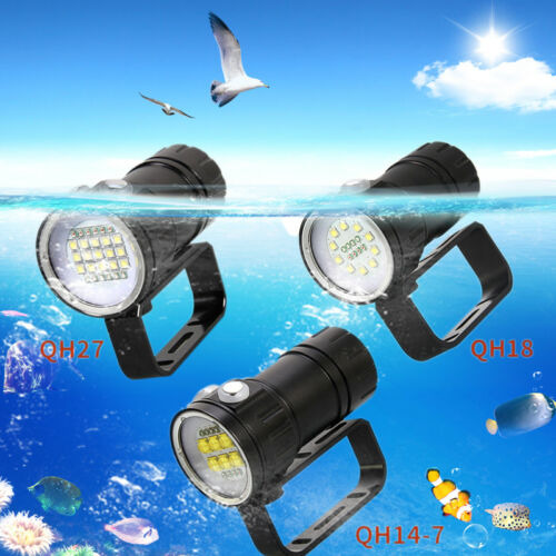 Fotografie Video 18LED 23LED 14LED 50000LM LED Tauche Tauchlampe Bis 100m IPX8