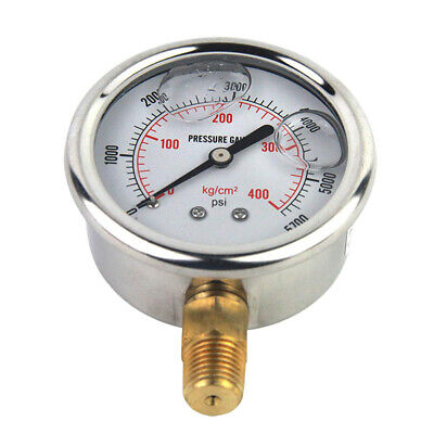 High Quality Hydraulic Liquid Filled Pressure Gauge 0-5000 Psi 14 Npt Male