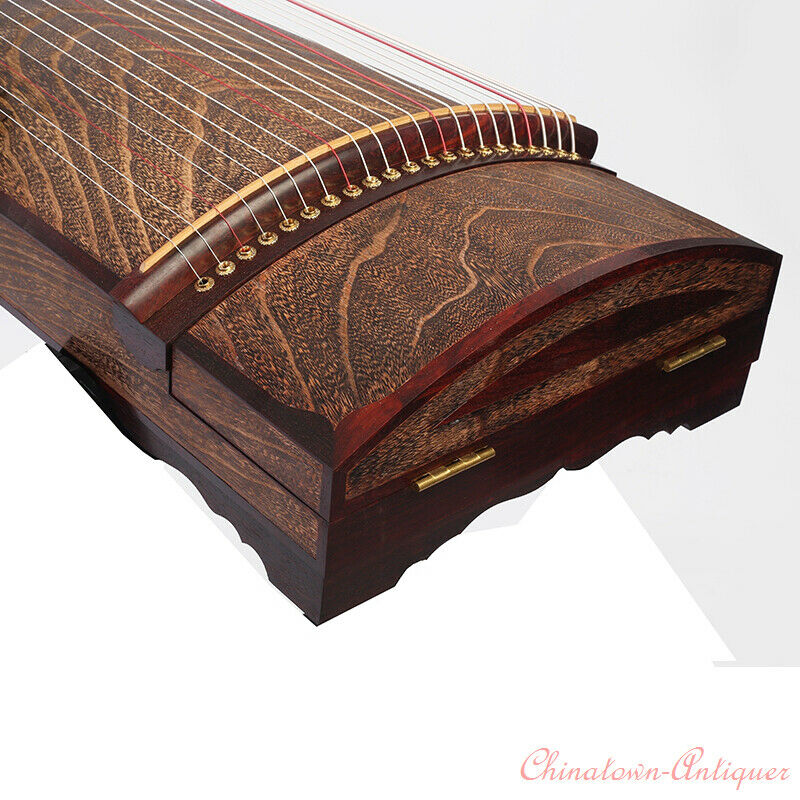 "63"" Whole Digging 21-String Child Guzheng Chinese Zither Harp Koto 整體實木挖箏#5180"