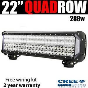 "22"" CREE 288w Led Quad Row Lightbar + wiring harnes light bar 4b Wangara Wanneroo Area Preview"