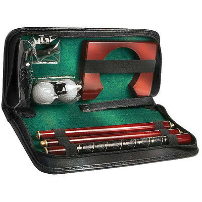 8-Piece Executive Portable Practice Golf Set Golf Club Equipment Balls Gifts Kit