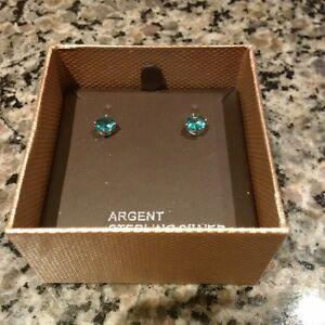 Light Blue Argent Sterling Silver Earrings - New