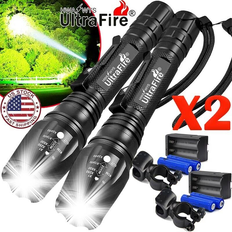 Ultrafire Tactical 350000LM 5 Mode T6 LED Bright Flashlight