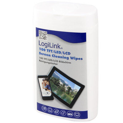 LogiLink RP0010 TFT LCD Plasma Monitor Reinigungstücher Screen Cleaning Wipes Lcd Monitor Plasma Screen