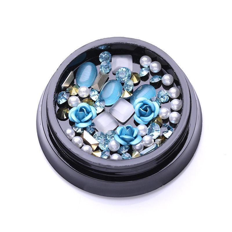1Box Blue Rose Beads