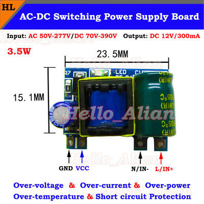 Mini Ac-dc Converter 110v 220v To 12v 300ma Isolated Power Switching Transformer