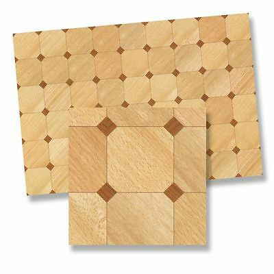 Dollhouse Miniature Faux Wood Parquet Flooring by World Model Miniatures
