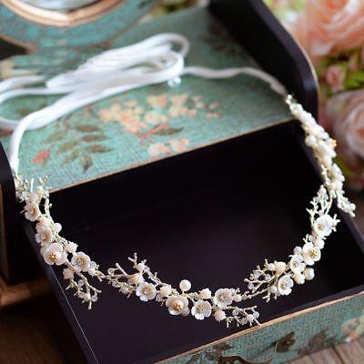Cristal Corona Tiara Boda Novia Estrás Cabello Concursos de Belleza Pearl Cabeza