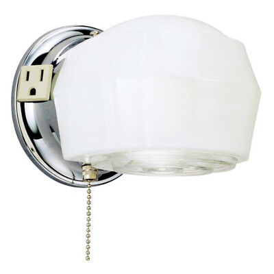Westinghouse 66402 One-Light Interior Wall Fixture, Chrome Finish