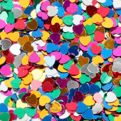Shine Star Moon Love Heart Confetti Decoration Craft Birthday Wedding Party DIY - Heart Confetti