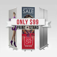 ⭐Rollup Retractable Banner Stand with Printing - ONLY $99 ⭐