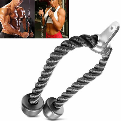 USTricep Rope Multi Gym Cable Attachment Press Push Pull Down Arm Exercise -
