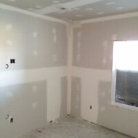Taping, Mudding, and sanding ready for painting. Residential and