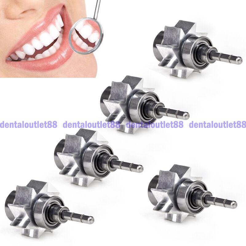 5PCS  Dentist Air Turbine Dental Cartridge Rator Large Torque Push Button