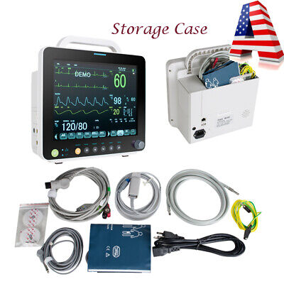 Fda 6-parameter Patient Monitor Cardiac Monitor Ecg Nibp Resp Pr Spo2 Tempalarm