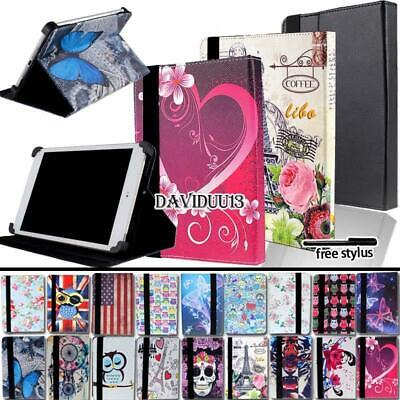 For Various 7 8 10 inch Tablet - Folio Stand Leather Cover C