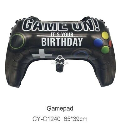Game Controller It's Your Birthday Party Foil Helium Balloon   Game on! Computer