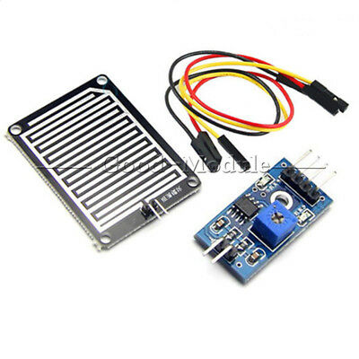 2pcs Raindrops Detection Sensor Module Rain Weather Module Humidity For Arduino
