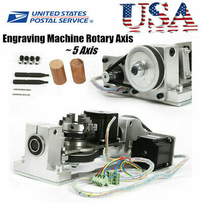 Engraving Machine Cnc 5th Axis Rotary Axis With Chuck Table For Diy Cnc Router