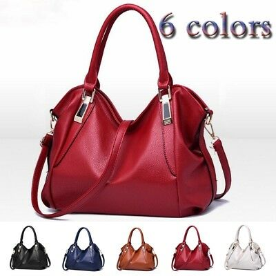Women Leather Shoulder Handbag Bag Ladies Purse Tote Messenger Satchel - Leather Ladies Handbag Purse
